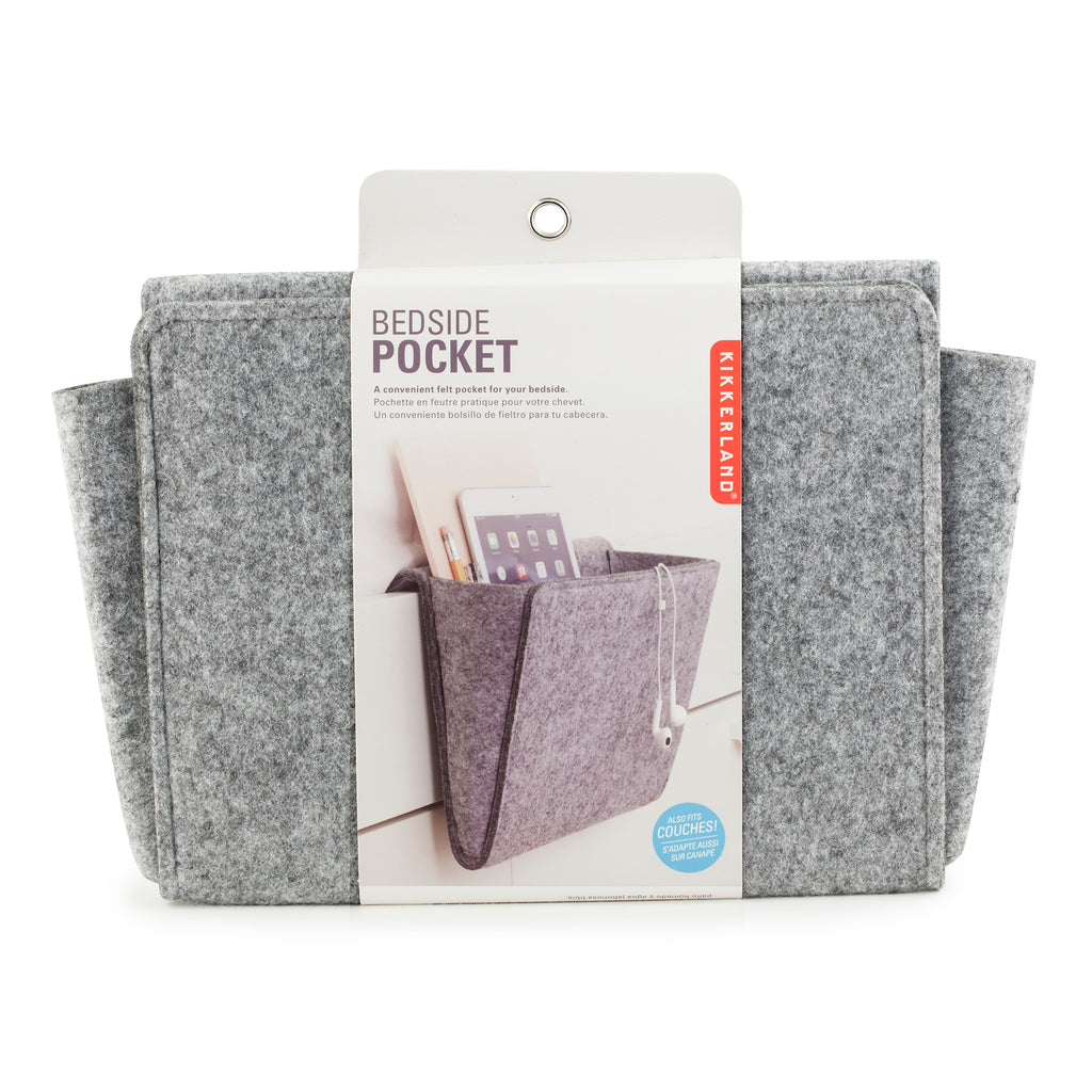 felt bedside caddy packaging