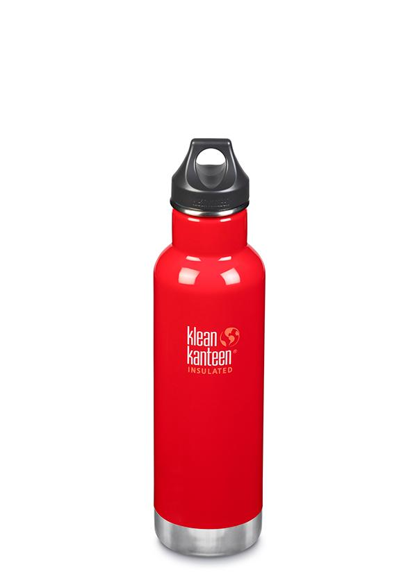 Klean Kanteen Insulated Water Bottle - Mineral Red