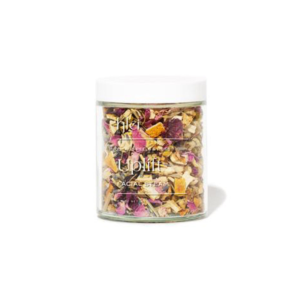 klei citrus peels and rose uplift scented floral facial steam jar