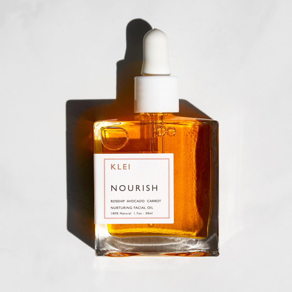 klei beauty nourish facial oil bottle