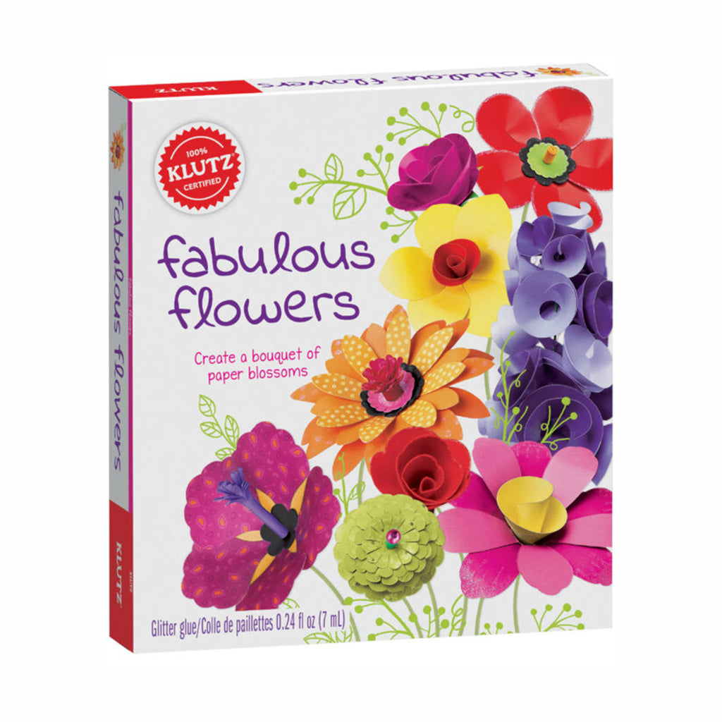 klutz fabulous flowers kids paper craft diy kit box front
