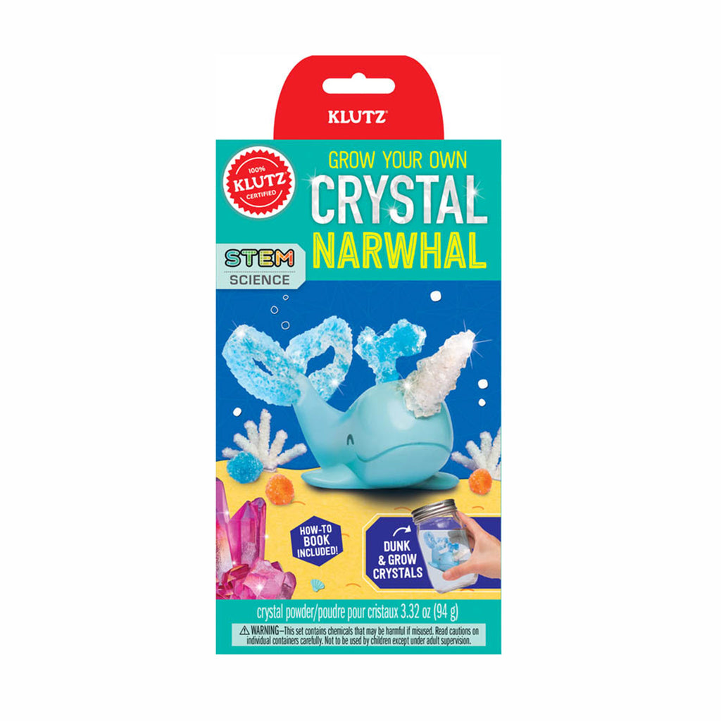 klutz grow your own crystal narwhal kids diy craft kit box front