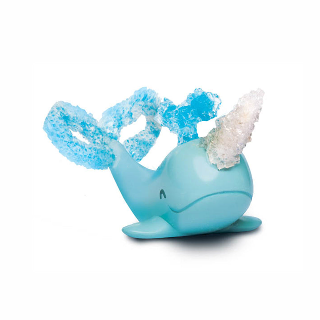 klutz grow your own crystal narwhal kids diy craft kit finished narwhal with crystals