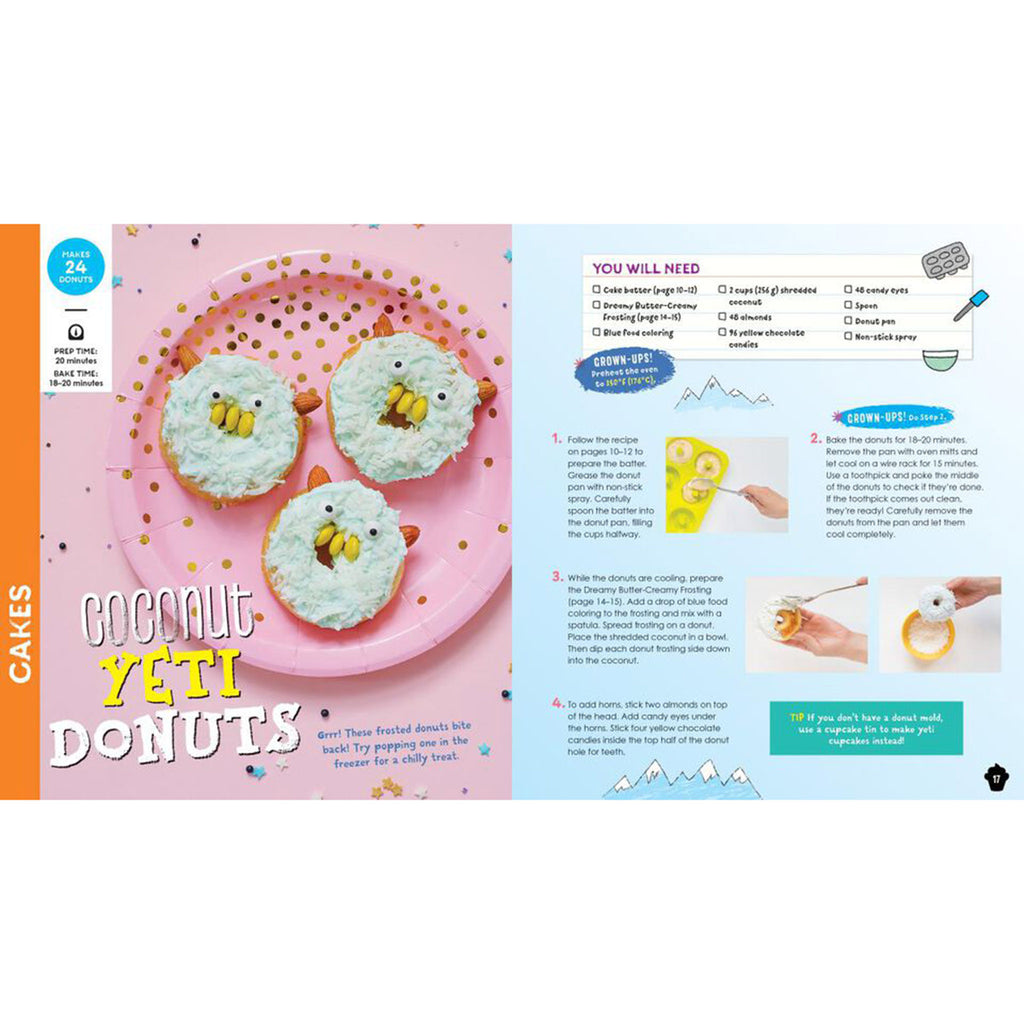 klutz kids magical baking with with cookbook recipes activity kit coconut yeti donuts recipe