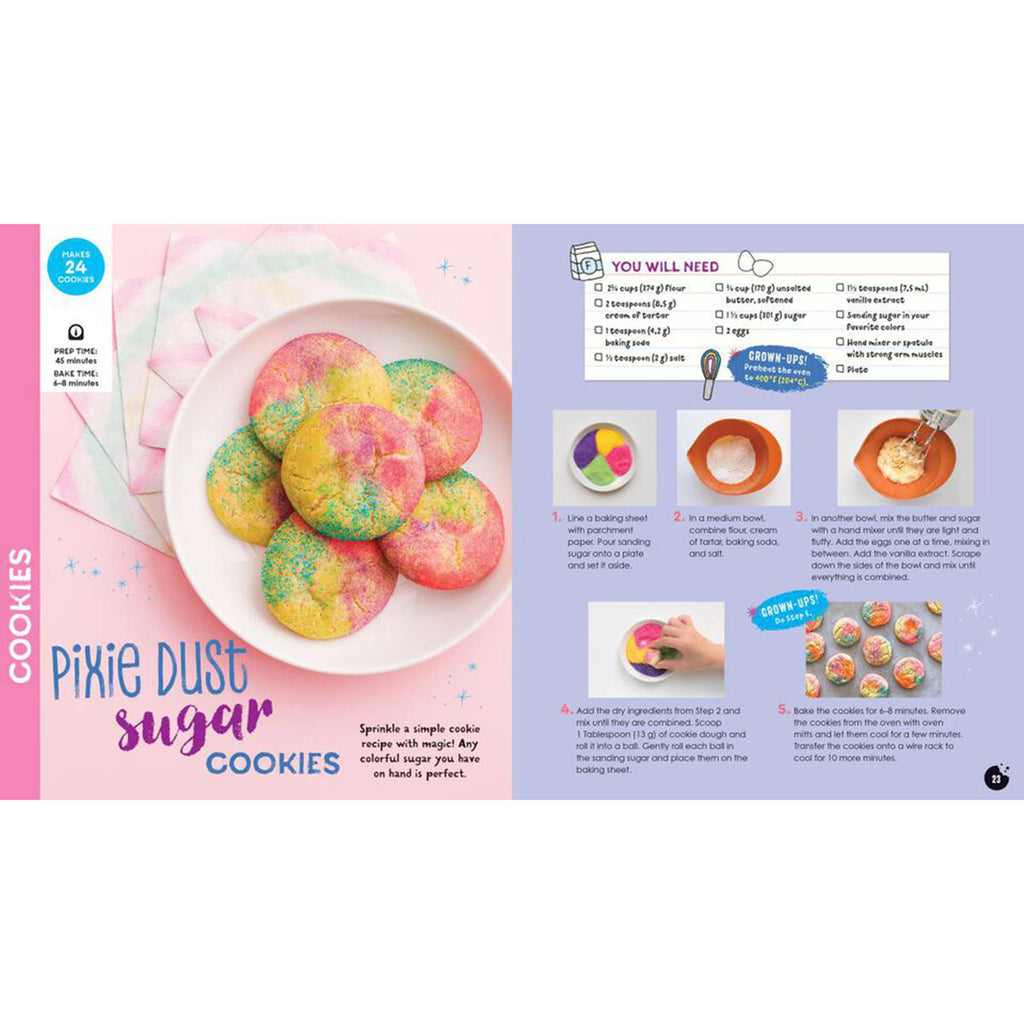 klutz kids magical baking with with cookbook recipes activity kit pixie dust sugar cookies recipe