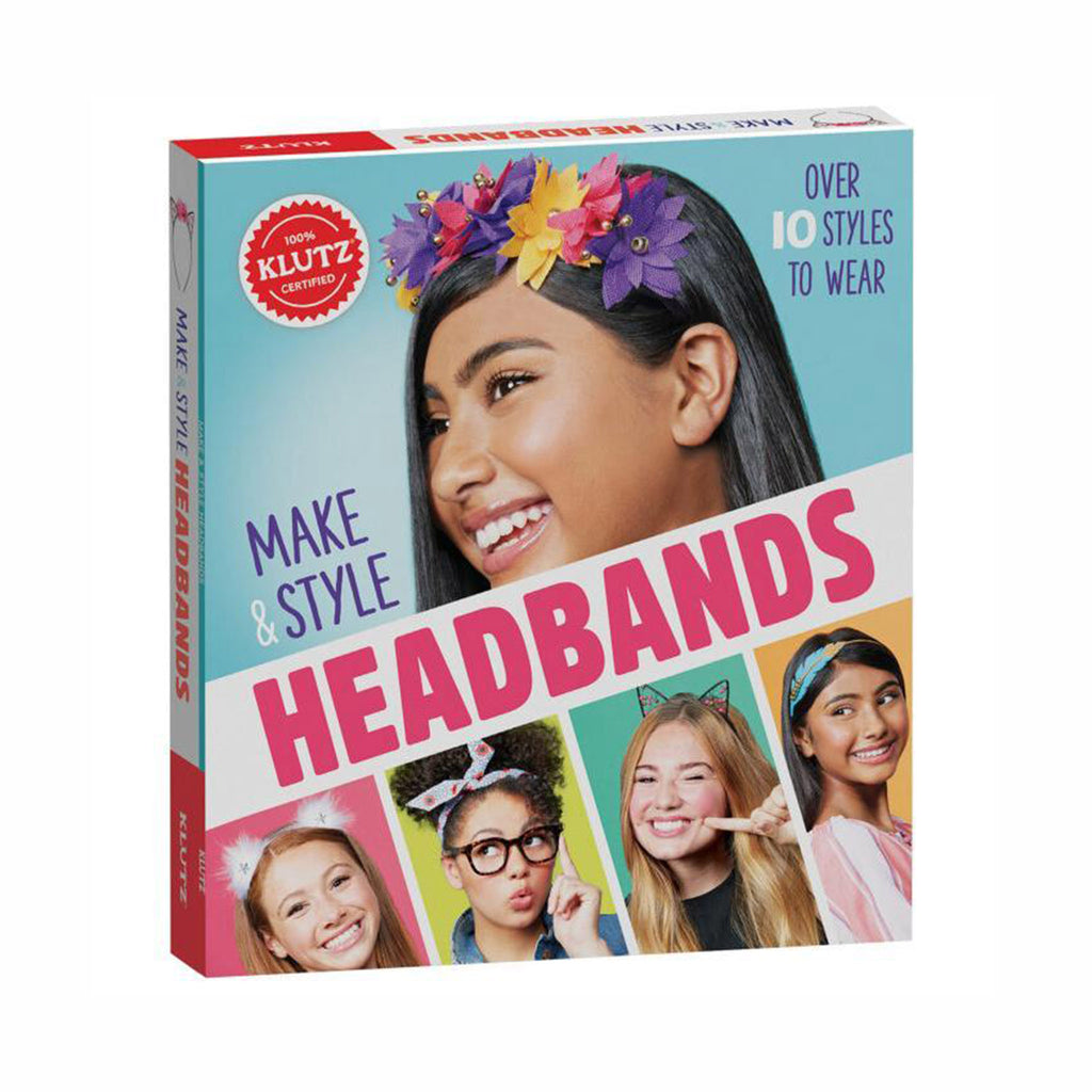 klutz make and style headbands diy kids tweens hair accessories craft kit box front