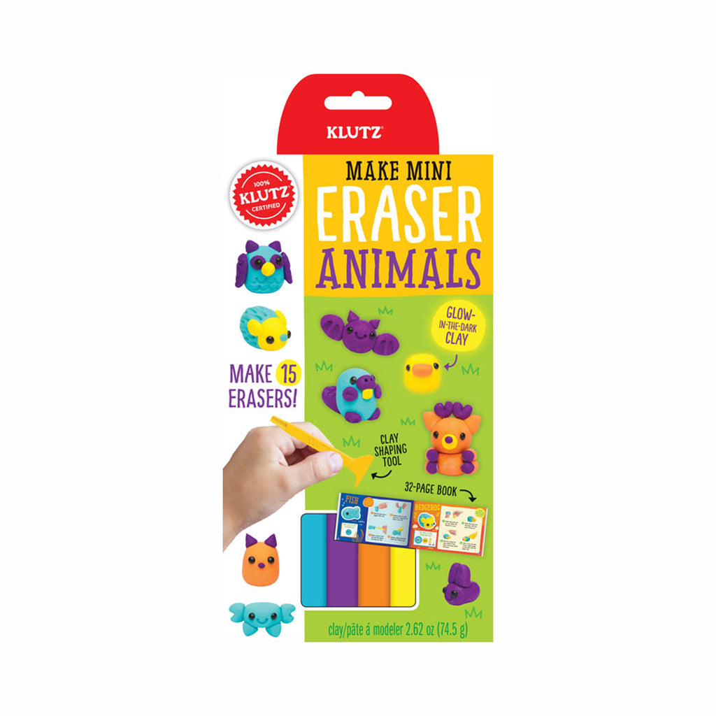 klutz make mini eraser animals pencil toppers diy kids craft kit box front