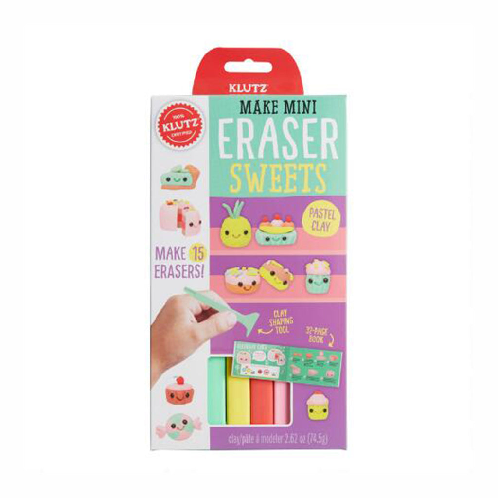 klutz make mini eraser sweets pencil toppers diy kids craft kit box front