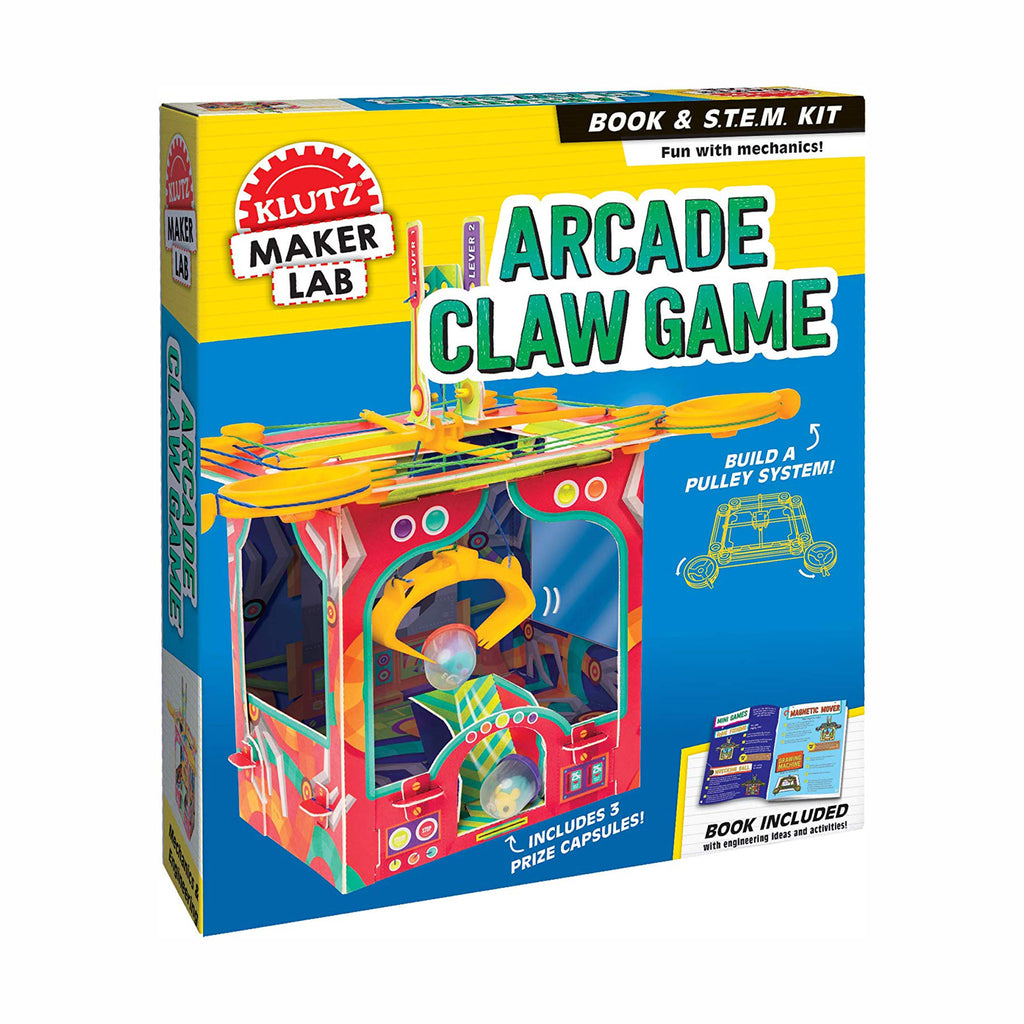 klutz maker lab build your own arcade claw game kids diy stem steam craft kit box front