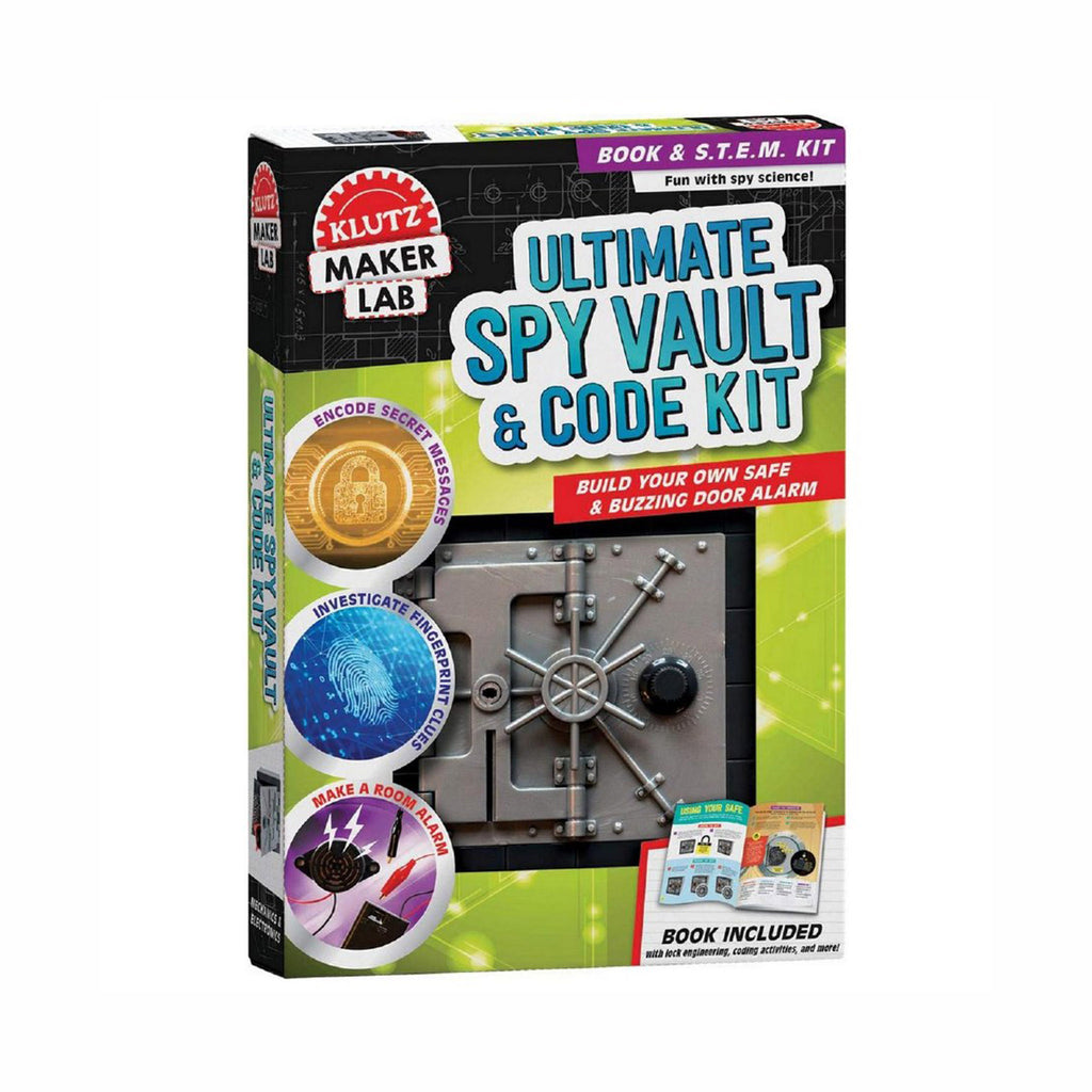 klutz maker lab ultimate spy vault and code kit kids diy stem craft kit box front
