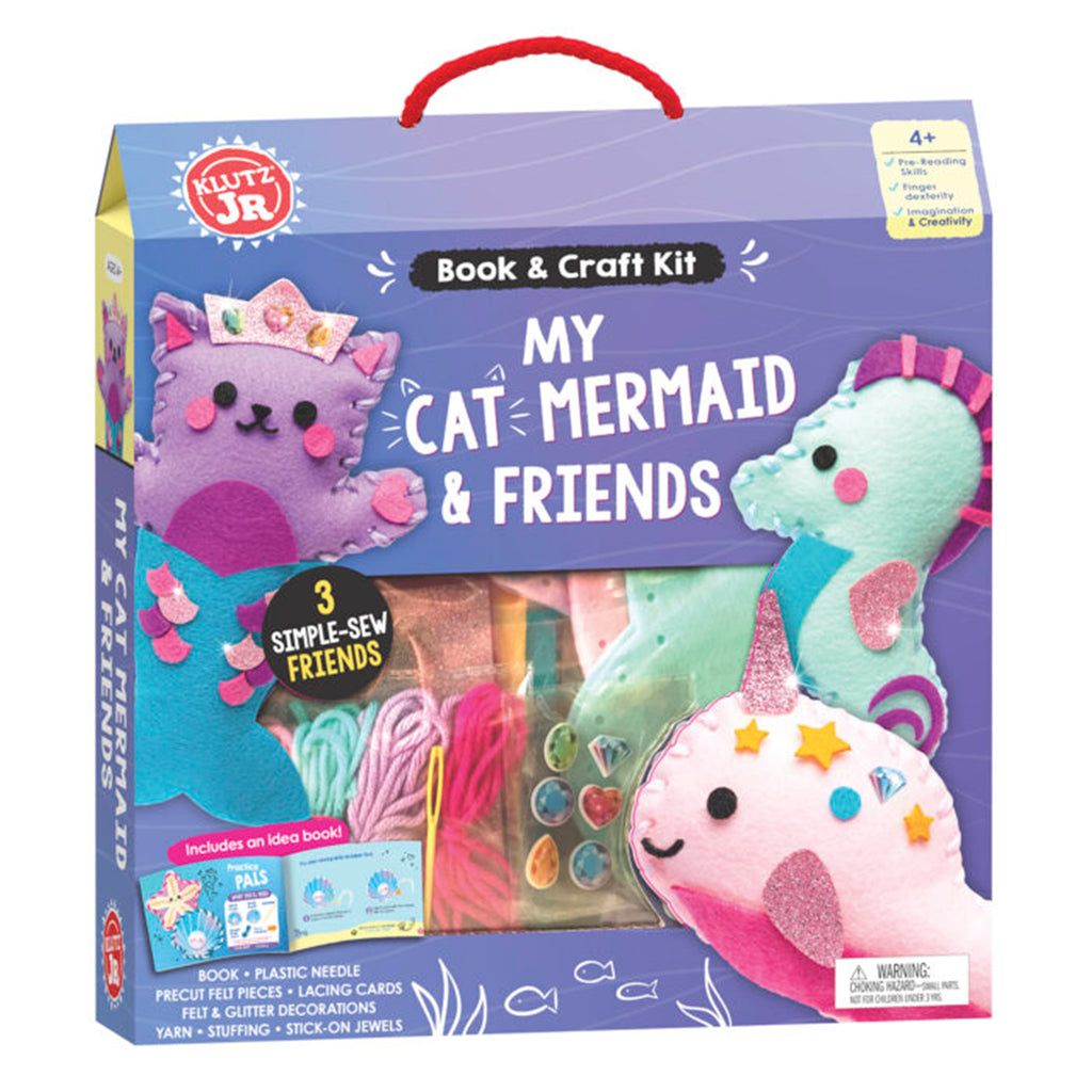 klutz my cat mermaid friends craft kit