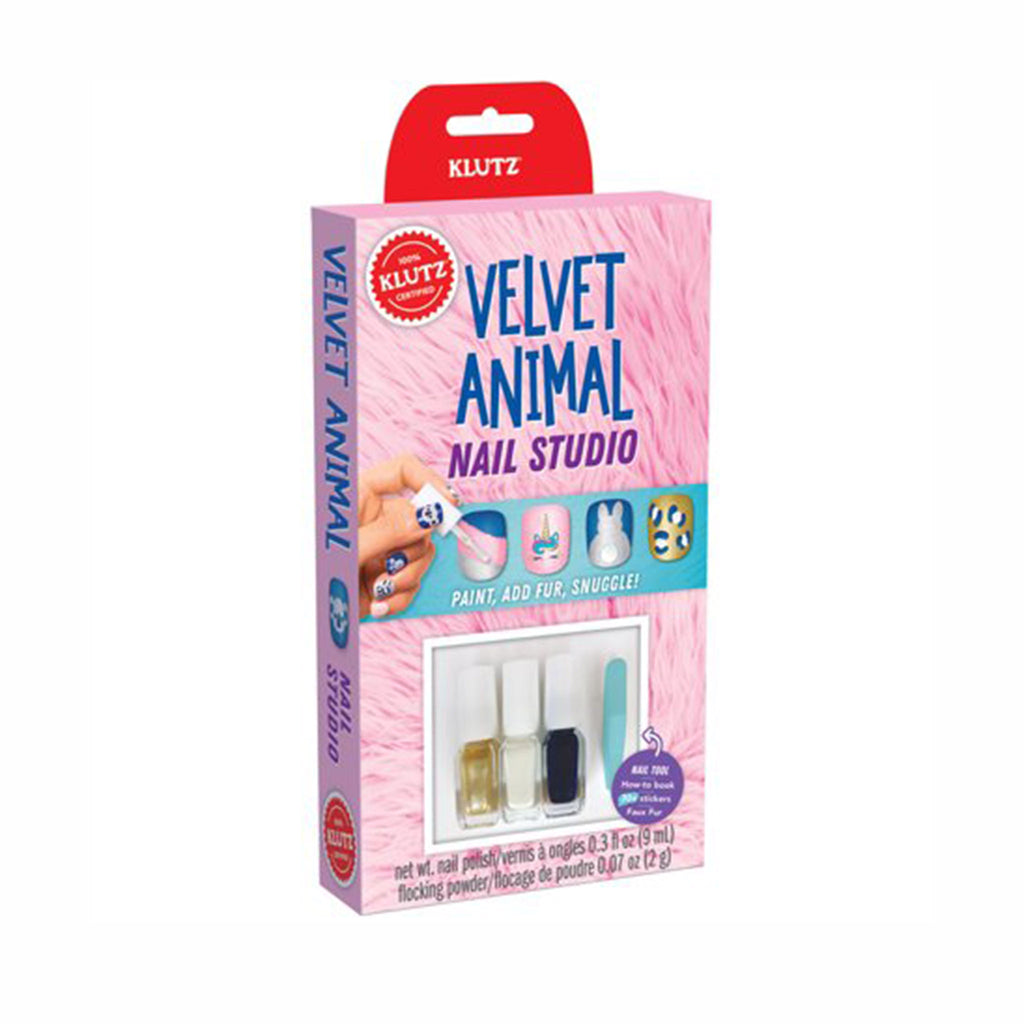 klutz velvet animal nail studio kids diy craft kit box front