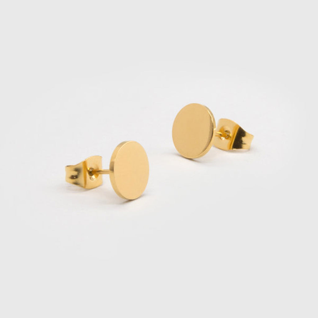 kuku gold circle pair of earrings gold plated jewelry stud earring accessory