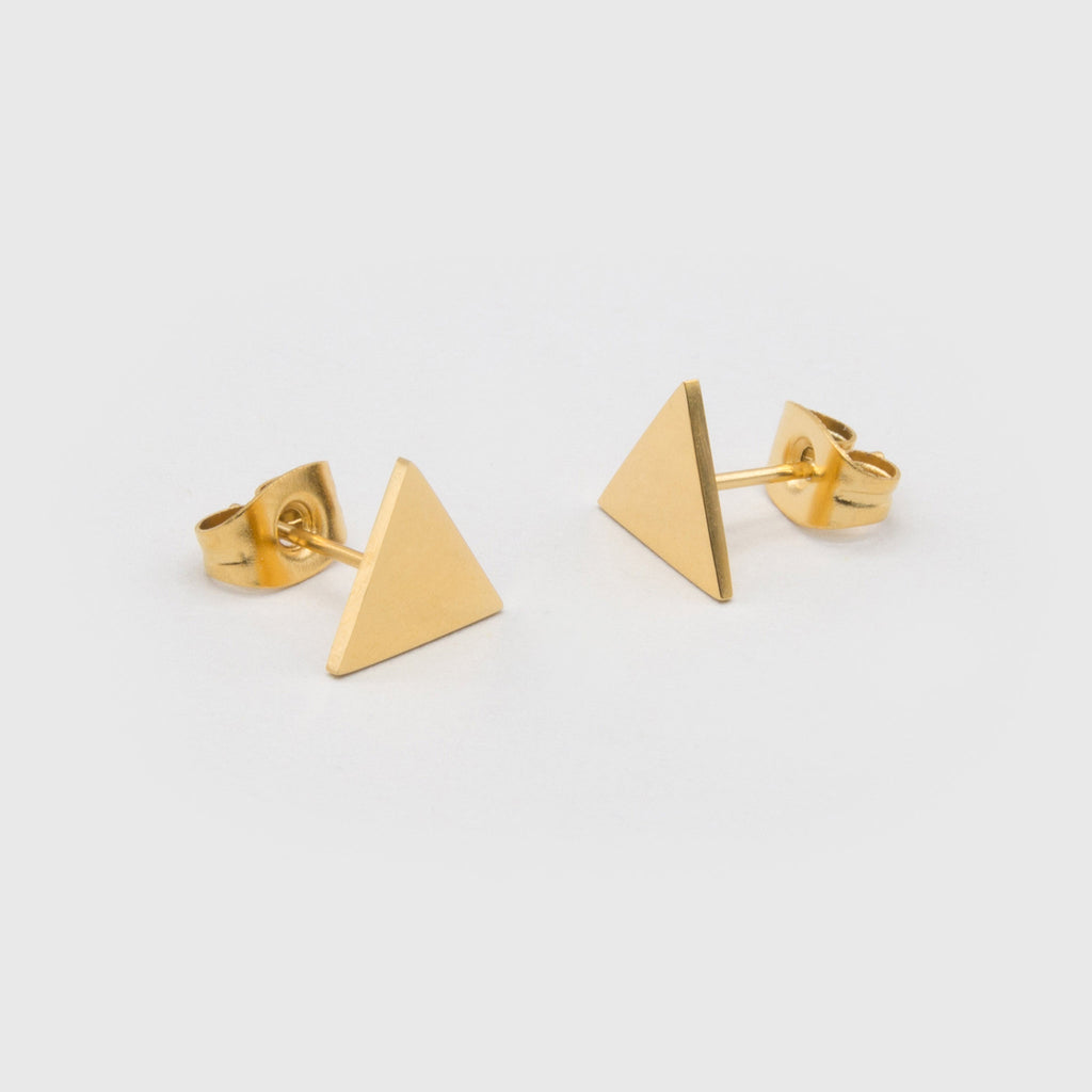 kuku gold triangle pair of earrings gold plated jewelry stud earring accessory