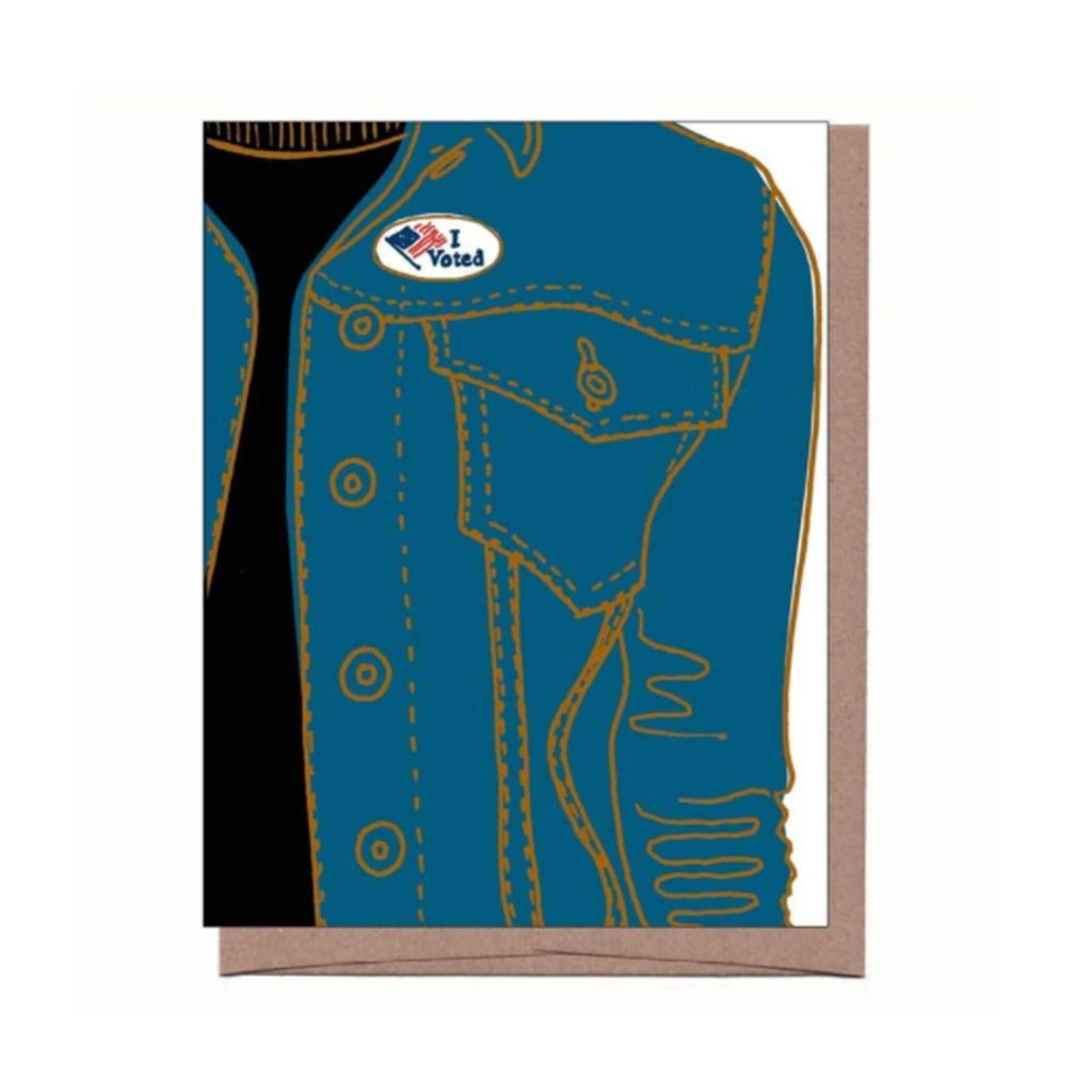 la familia green i voted greeting card with envelope