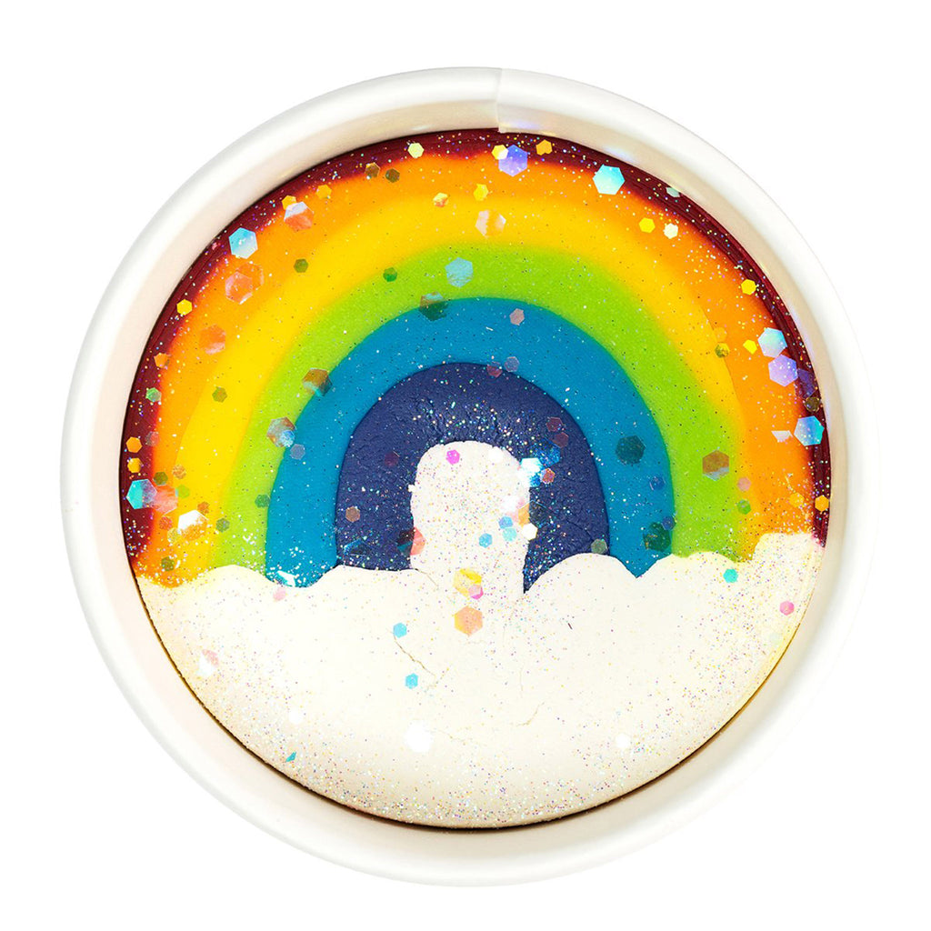 land of dough over the rainbow luxe all natural play dough cup top view