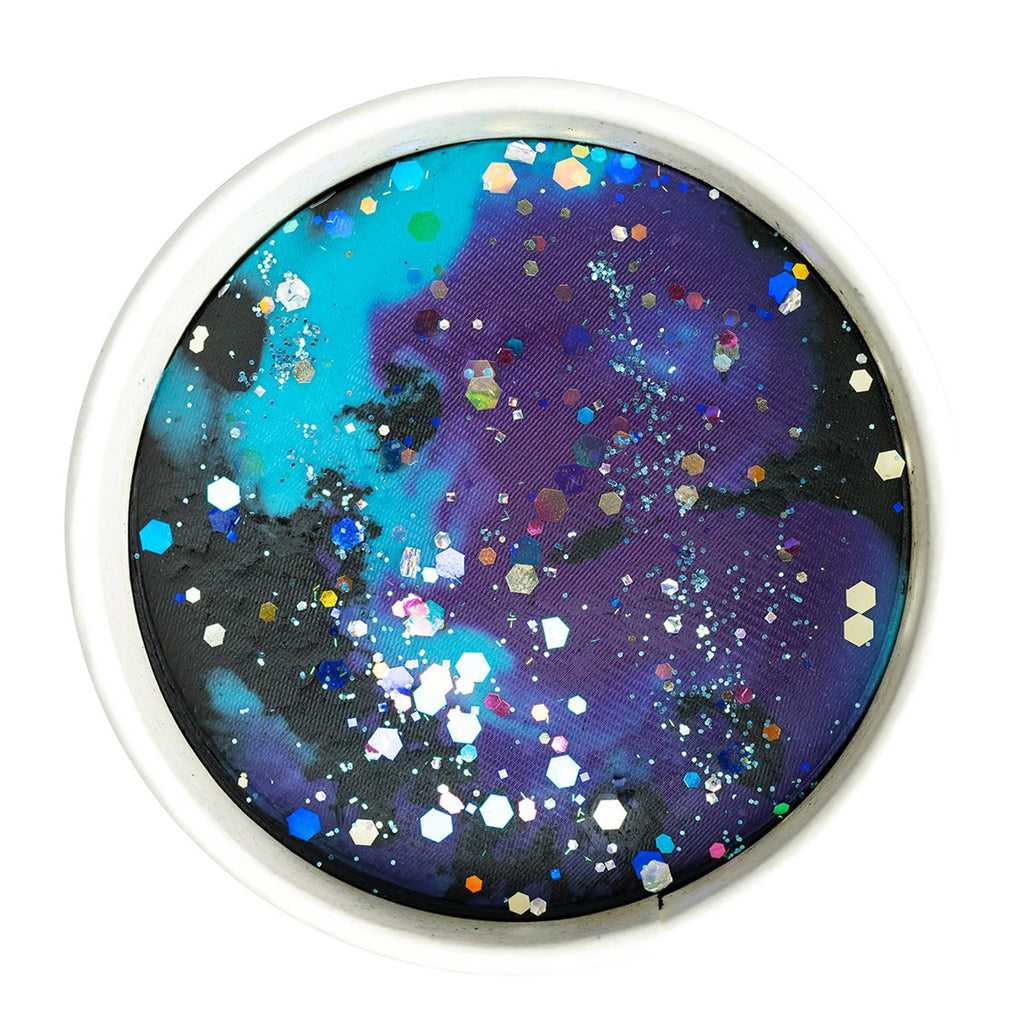 land of dough space galaxy all natural play dough in cup top view