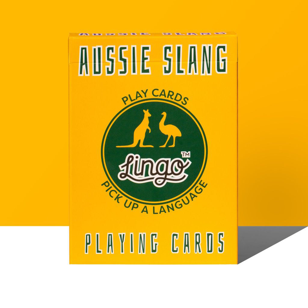 aussie slang playing cards box