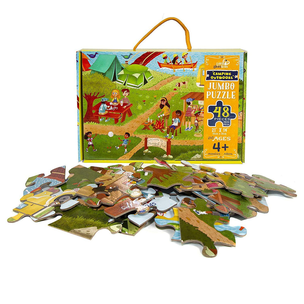 little likes kids 48 piece camping outdoors jigsaw puzzle