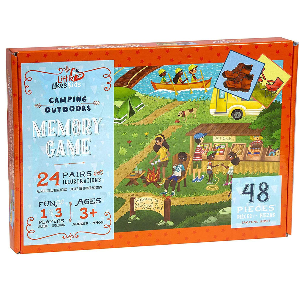 little likes kids camping outdoor memory game