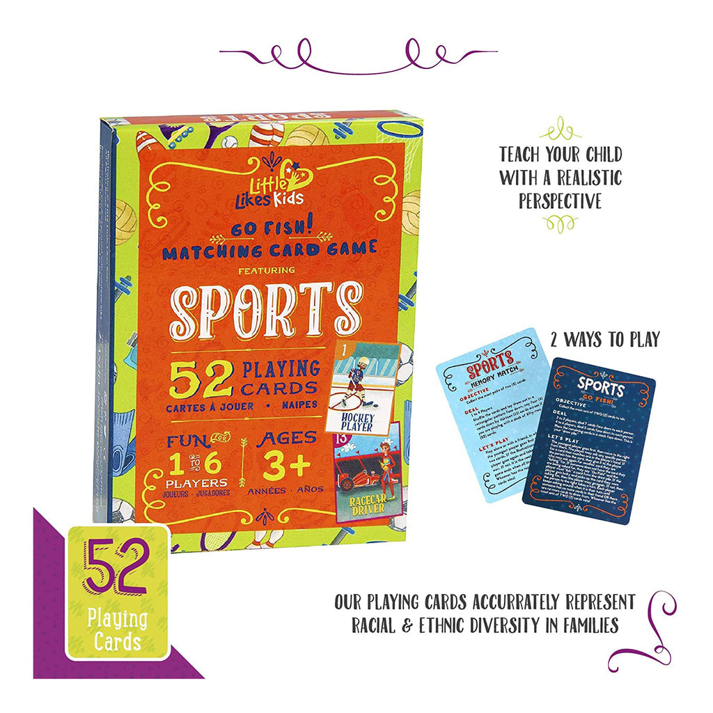 little likes kids sports go fish card game