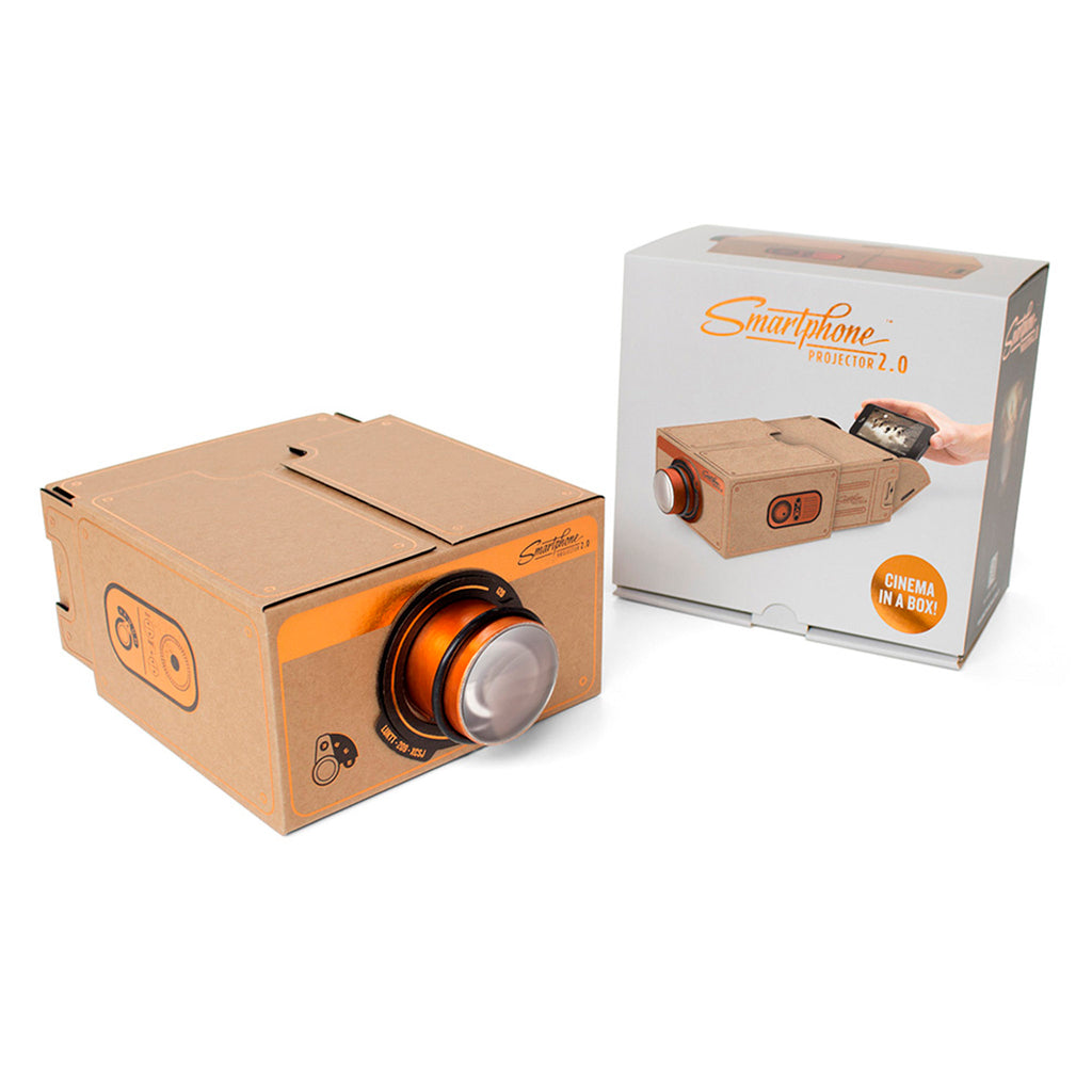 luckies of london smartphone projector 2.0 copper cinema in a box with packaging