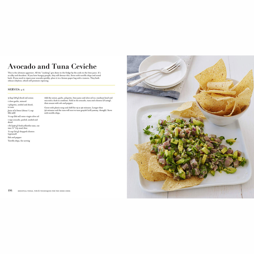 macmillan essential tools tips and techniques for the home cook cookbook avocado and tuna ceviche recipe