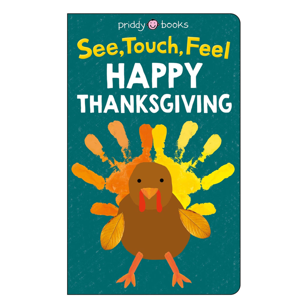 macmillan see touch feel happy thanksgiving interactive baby toddler board book cover