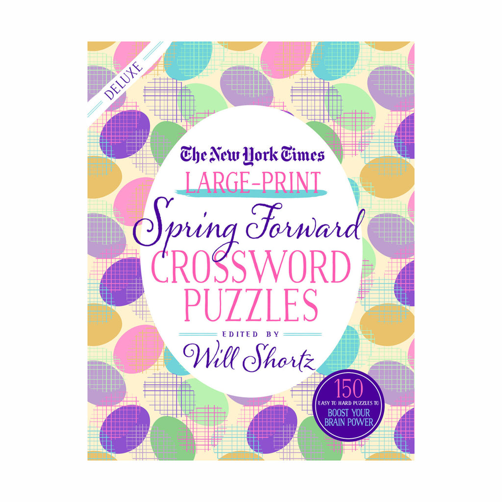 macmillan the new york times large print spring forward crossword puzzles book cover 9781250308658