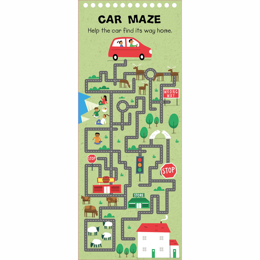 macmillan wipe clean activities road trip car maze sample page