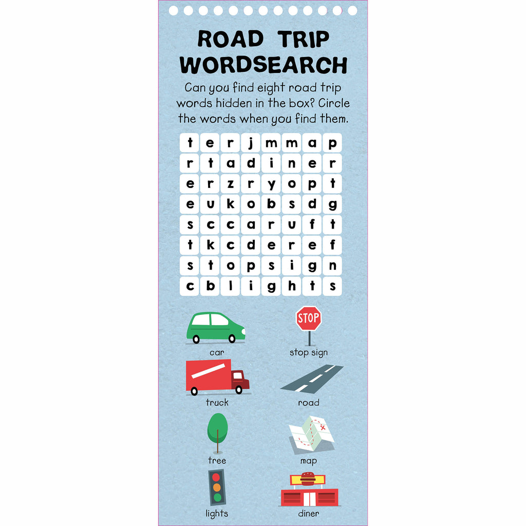 macmillan wipe clean activities road trip word search sample page