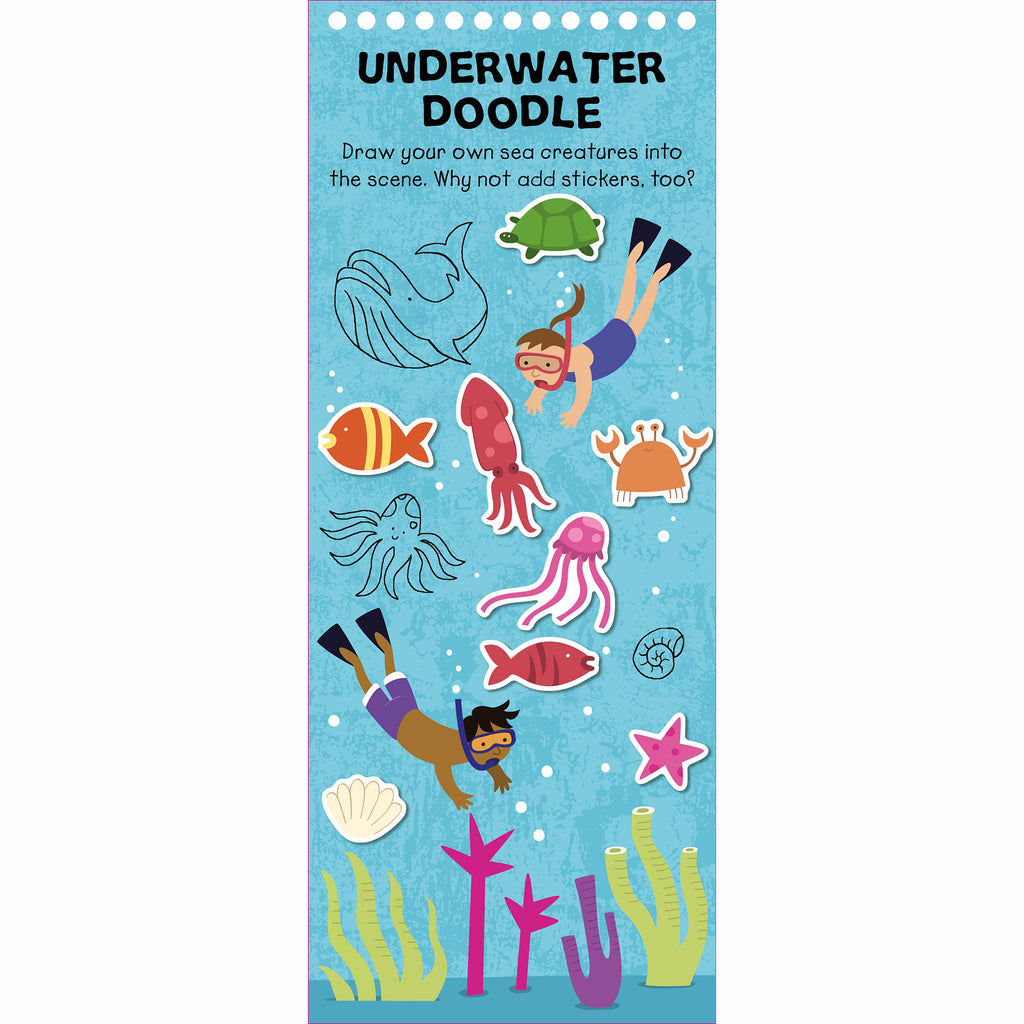 macmillan wipe clean activities vacation time underwater doodle page example