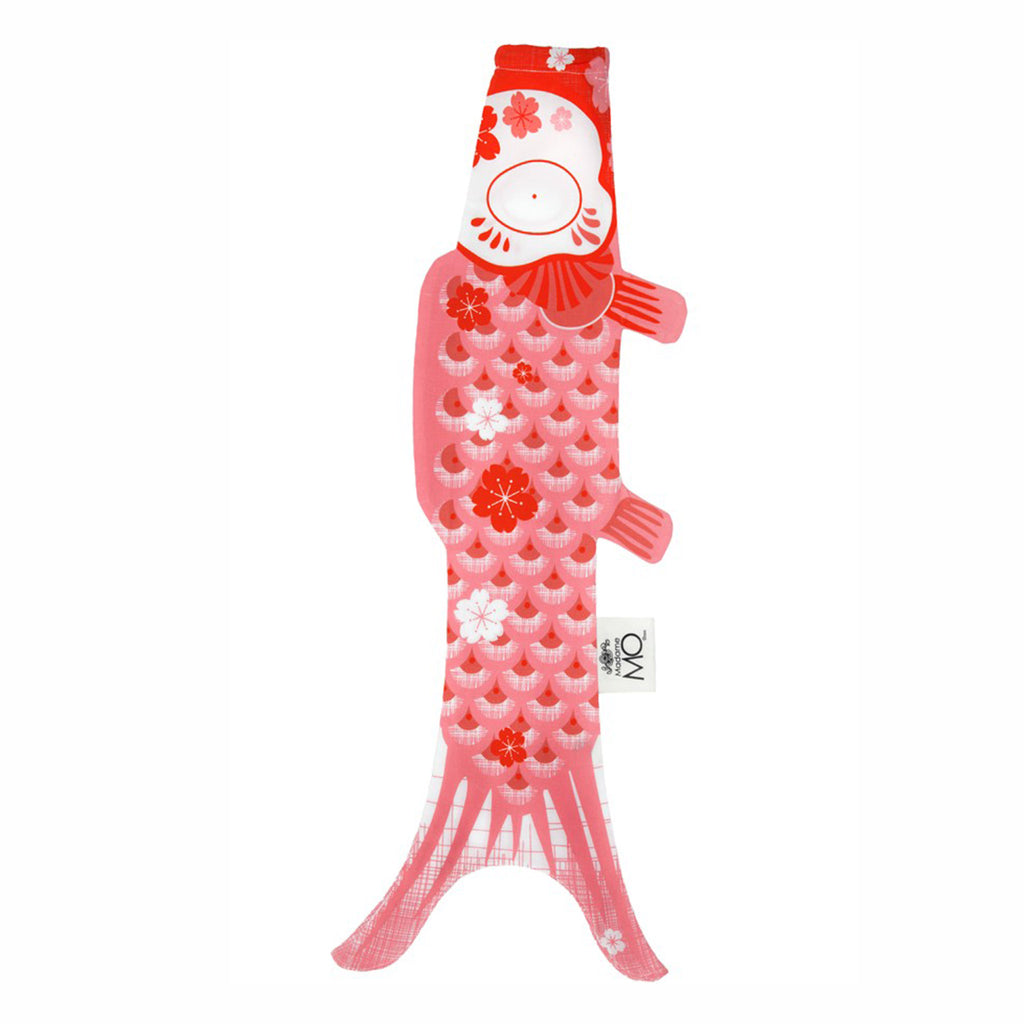 madame mo koinobori koi fish windsock organic cotton coral pink size small