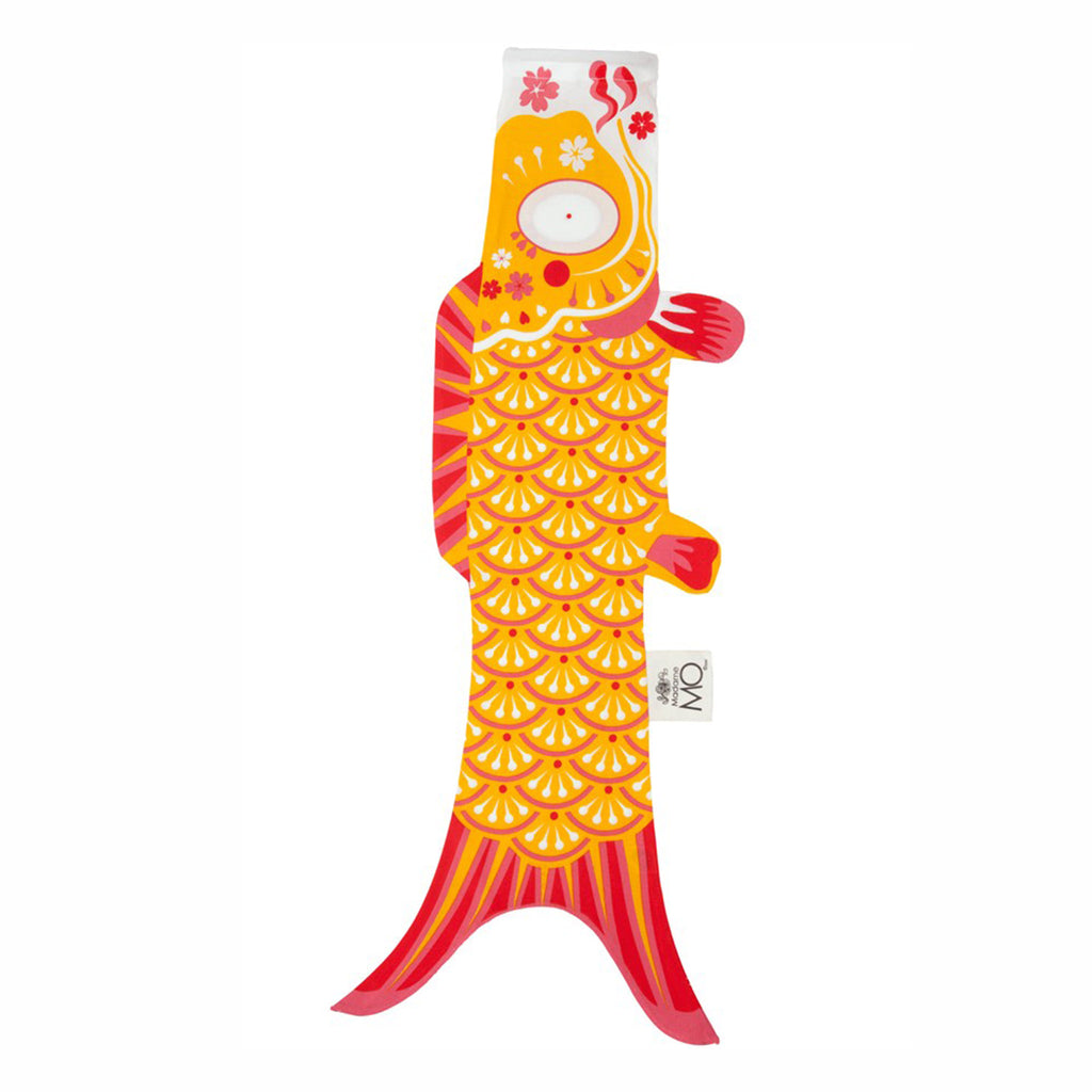 madame mo koinobori koi fish windsock organic cotton indian yellow size small