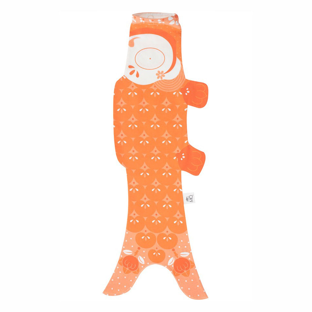 madame mo koinobori koi fish windsock organic cotton mandarin orange size small