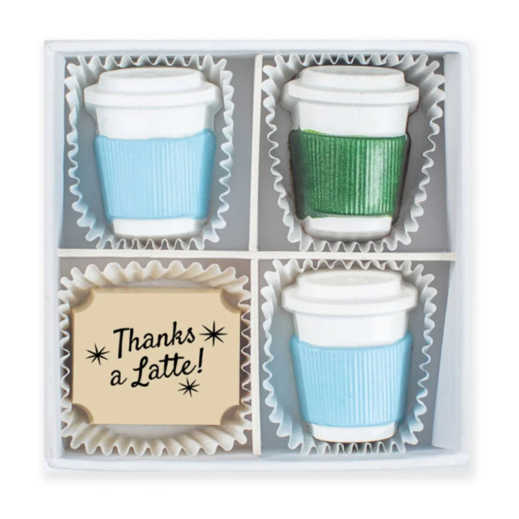maggie louise confections coffee break mini latte cup shaped chocolates in gift box