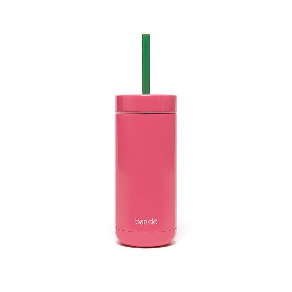 ban.do make time for sunshine insulated beverage tumbler with straw back