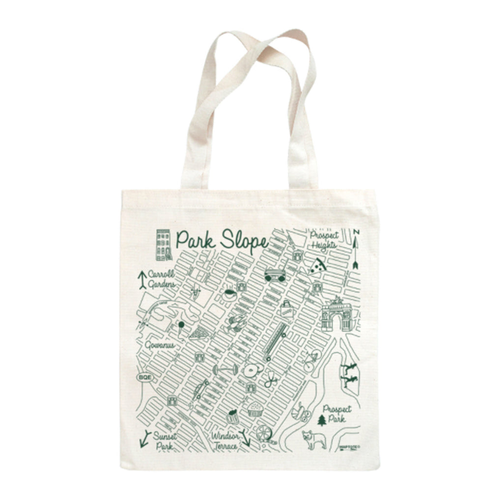 maptote park slope brooklyn cotton canvas reusable grocery tote bag