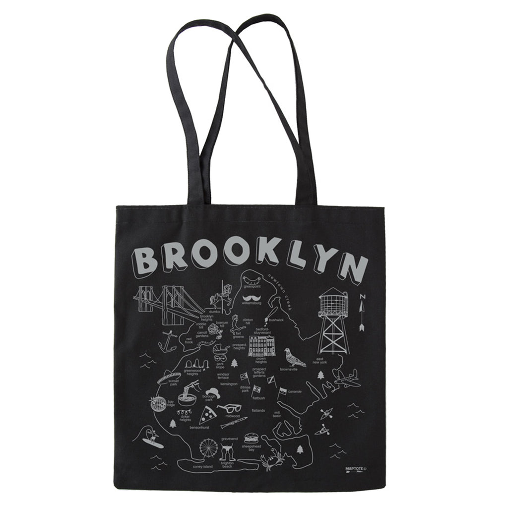 maptote brooklyn black everyday tote bag