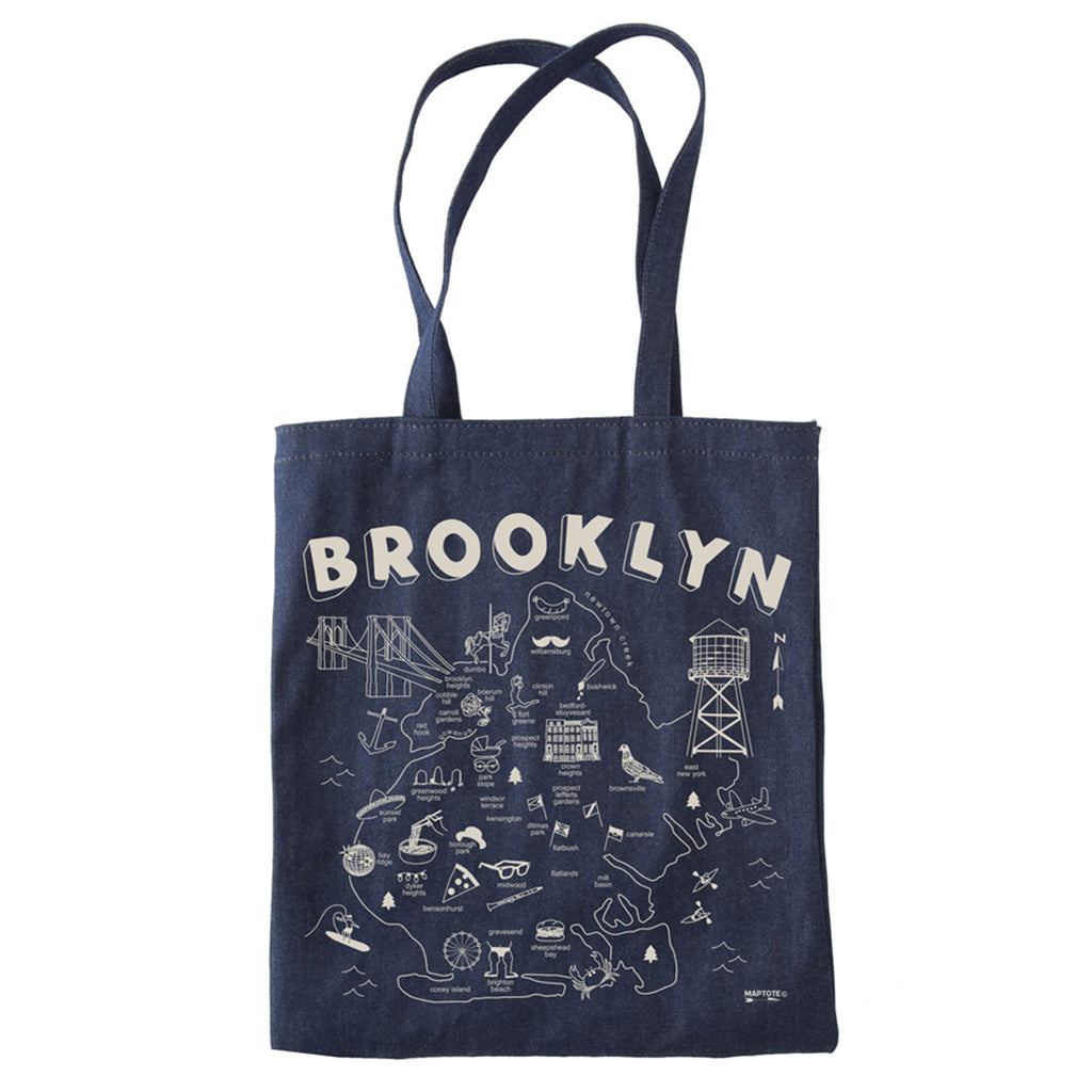 maptote brooklyn denim tote bag
