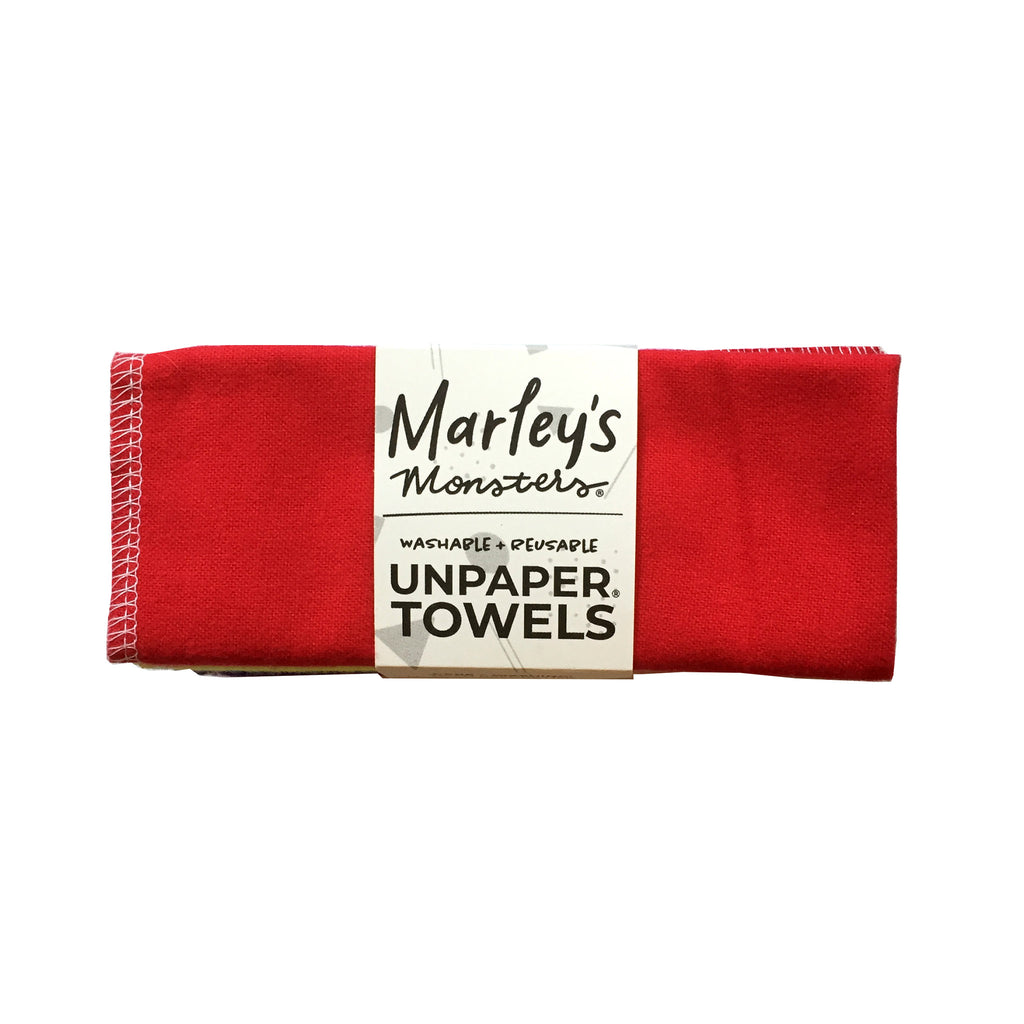 marleys monsters reusable unpaper towels six pack bold rainbow with red on top