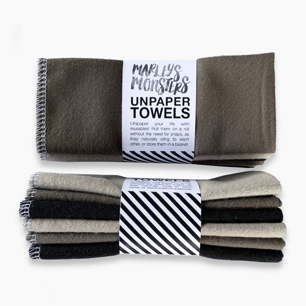 marley's monsters unpaper towels mixed grays 6 pack