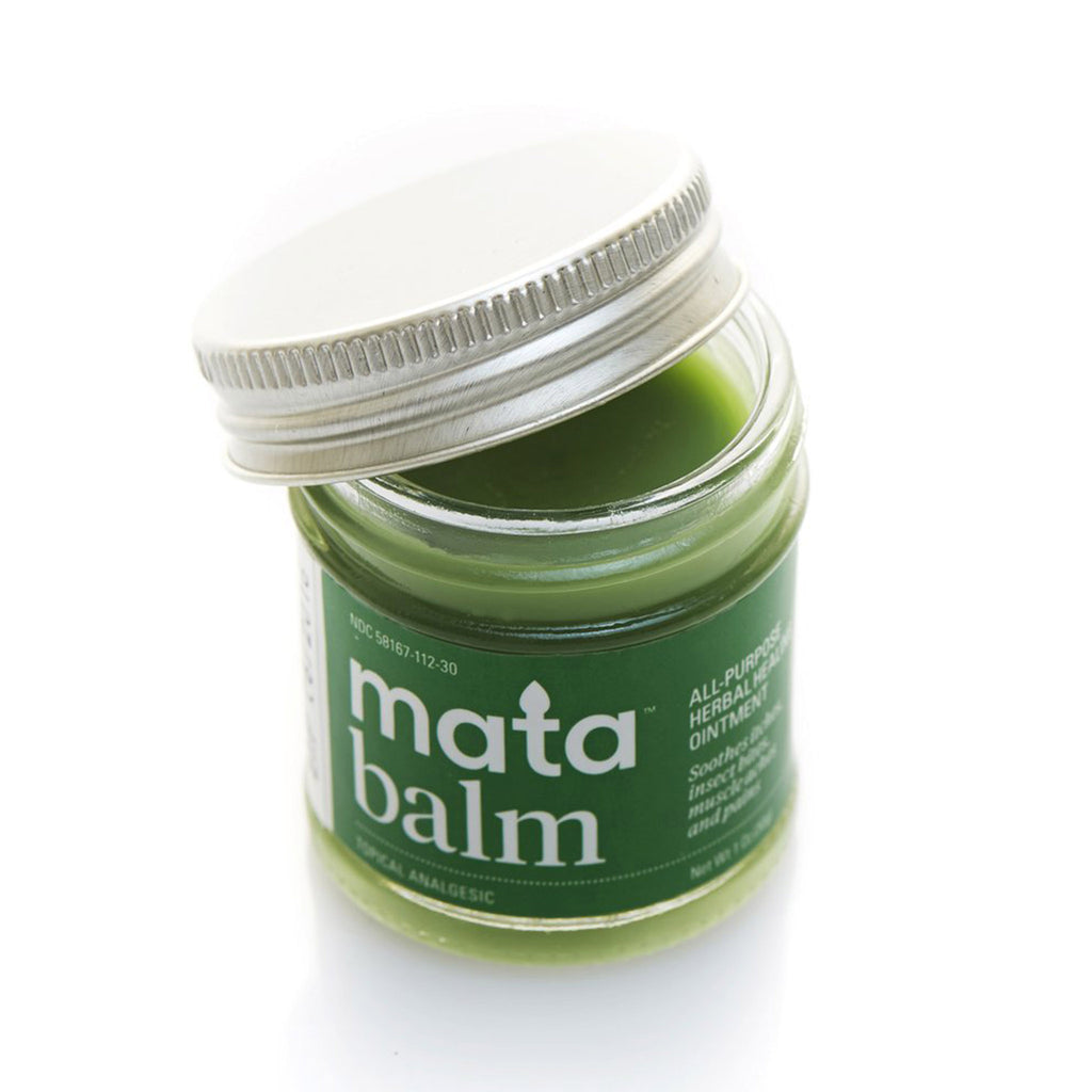 mata mata balm all-purpose herbal healing ointment topical analgesic lid open