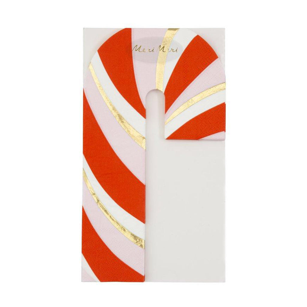 meri meri candy cane holiday party napkins packaging