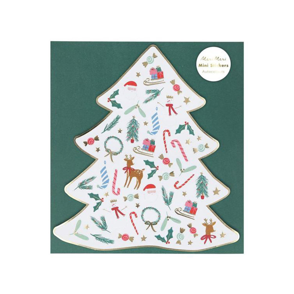 meri meri christmas mini sticker sheets holiday party supplies in packaging