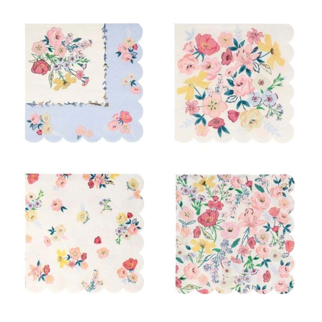 meri meri english garden small napkins