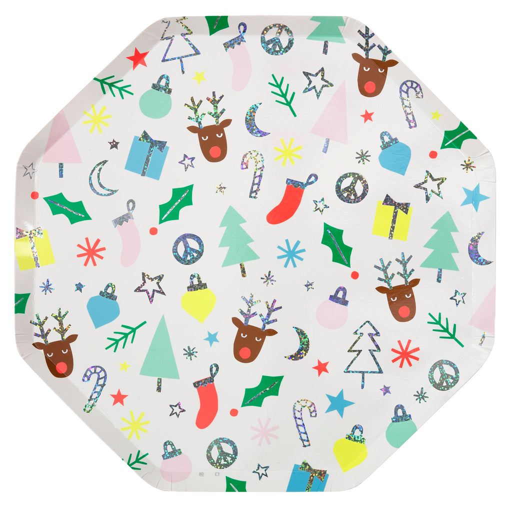 meri meri festive fun holiday party dinner plate