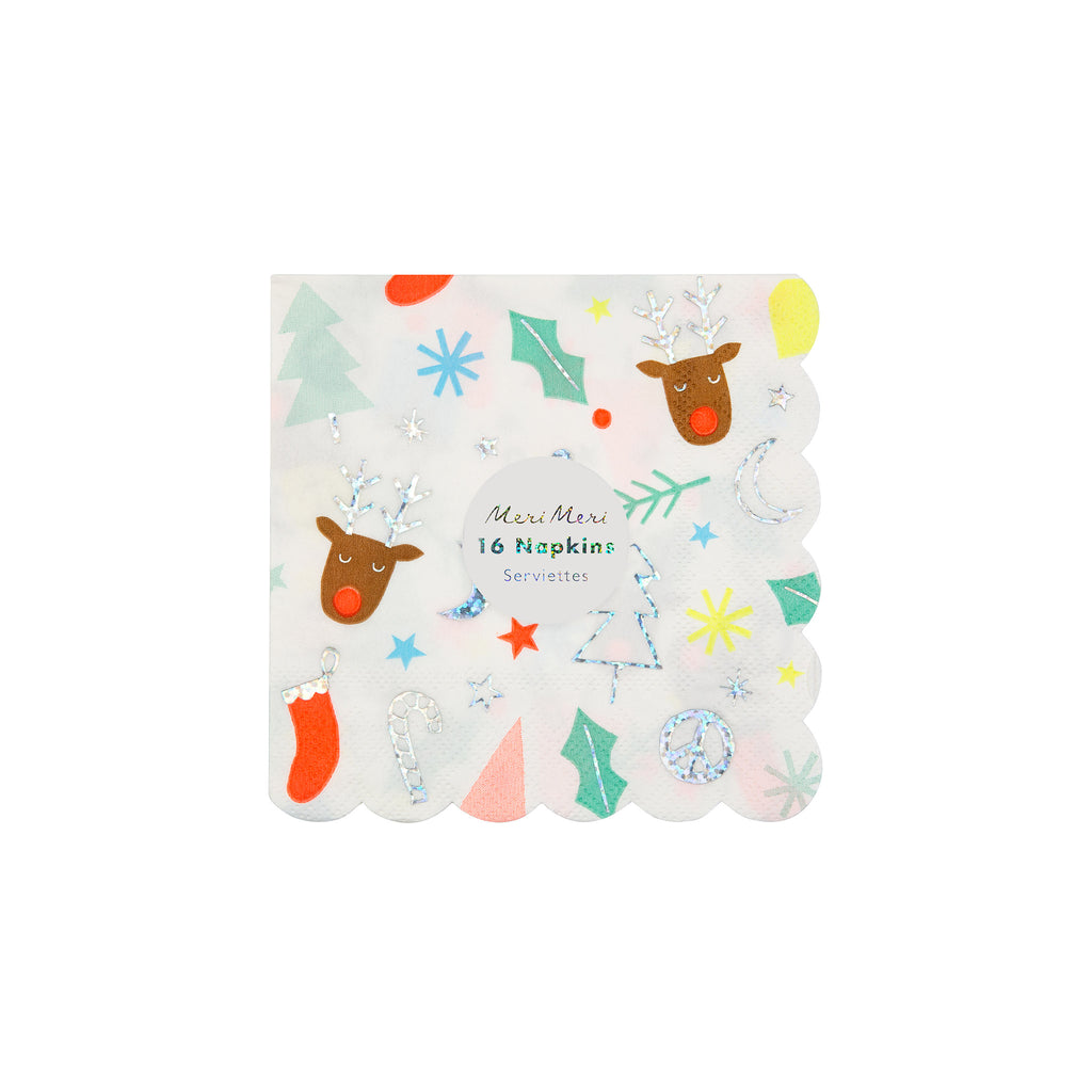 meri meri festive fun holiday party small napkins in packaging