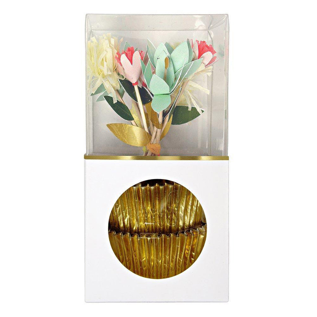 meri meri flower bouquet cupcake decorating kit spring easter party supplies favors