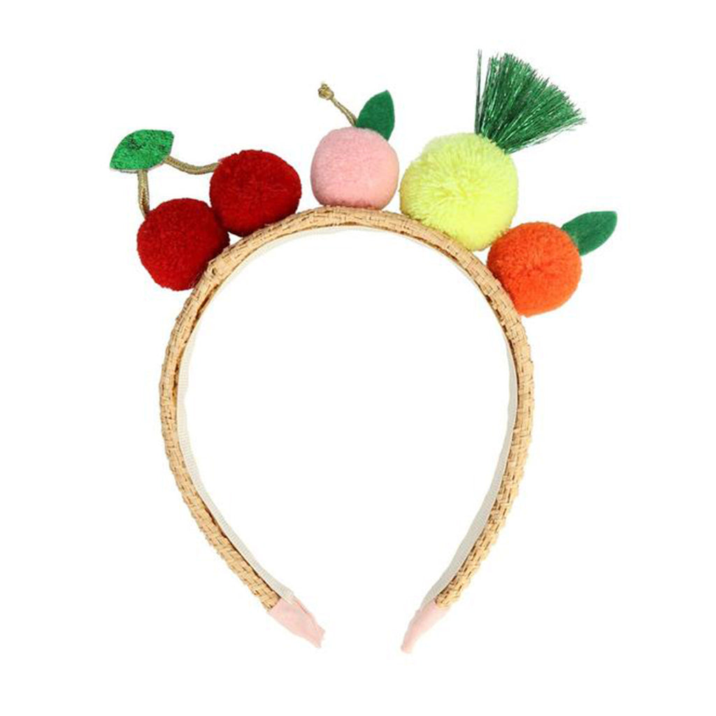 meri meri fruit pompom headband dress up kit kids hair accessory